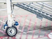 航行器着陆台阶在机场 库存图片