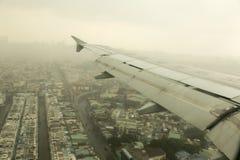 航行器着陆在上海 免版税图库摄影