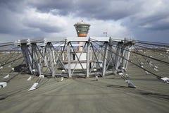航行器着陆的中央支持结构,亭子Rymka 库存图片