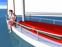 航行圣诞老人 库存照片