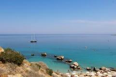 航行在地中海 库存图片