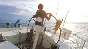 航行在帆船