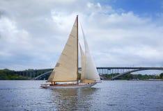 航行在斯德哥尔摩市 库存照片