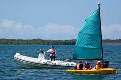 航行在英属黄金海岸昆士兰澳大利亚 免版税库存照片