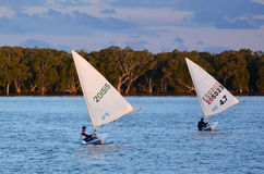 航行在英属黄金海岸昆士兰澳大利亚 库存图片