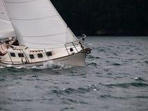 航行在风暴 免版税库存照片