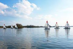 航行在Loosdrechtse在荷兰plassen 免版税库存图片