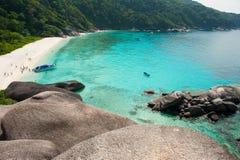 航行岩石在Similan海岛 免版税库存照片