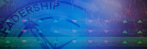 航行指南针的领导概念的综合图象 免版税库存图片