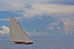 航行捕鲸的小船 免版税库存照片