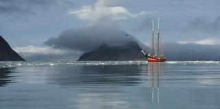 航行斯瓦尔巴特群岛 库存照片
