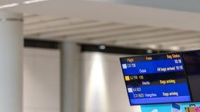 航行时刻表时间表在机场 库存照片