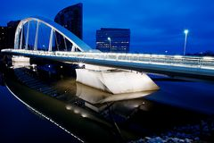 航行桥梁 库存图片