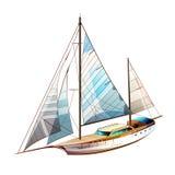 航行游艇例证 库存图片