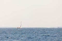 航行游艇在亚得里亚海 图库摄影