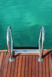 航行游艇的梯子 库存图片