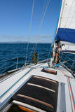 从航行游艇的海视图 免版税图库摄影
