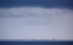 航行游艇, Juean列斯别针,法国 库存照片