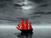 航行猩红色 免版税图库摄影