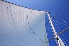 航行白色 免版税库存照片
