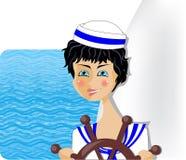 航行的女孩 免版税库存照片