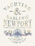 航行的纽波特乘快艇和 库存照片