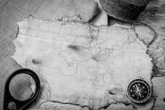 航行的老地图 免版税库存图片