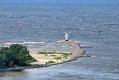 航行的风车 库存图片