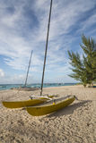 航行筏巴巴多斯印度西部 免版税库存照片