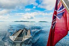 航行美妙的斐济 库存图片