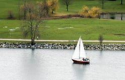 航行,绿色在冬天 图库摄影
