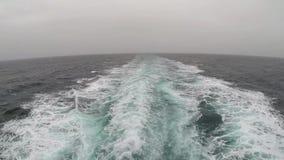 航行从轮渡的船尾 股票视频