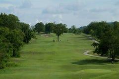 航路五打高尔夫球漏洞同水准 库存照片