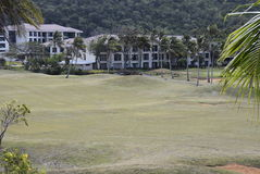 航路和Bluewater高尔夫球 库存图片