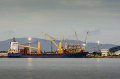 航运港,航运业 免版税库存图片