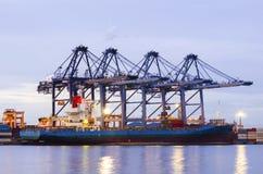 航运港,航运业 免版税图库摄影