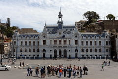 舰队智利de瓦尔帕莱索 库存照片