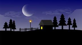 舱内甲板在夜使议院环境美化 图库摄影