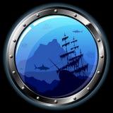 舷窗钢 免版税库存照片