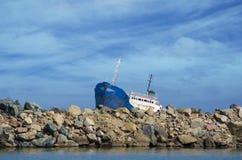 船下沉 库存图片