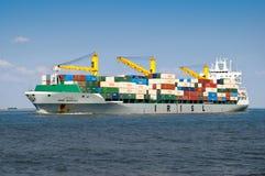 货船伊朗在鹿特丹,荷兰 免版税库存照片