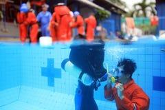 船具工作者队训练 图库摄影