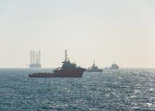 船具移动操作的准备 图库摄影