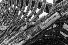 船击毁从19世纪在智利 库存照片