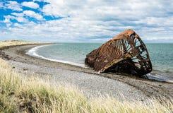 船击毁从19世纪在智利 图库摄影