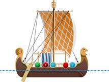 船北欧海盗 库存照片