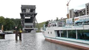 船只起重机埃贝尔斯瓦尔德Finow -德国 影视素材