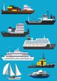 船和小船 免版税库存照片