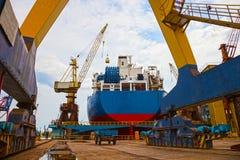 造船厂风景 免版税图库摄影