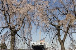 日本,横滨口岸和佐仓 库存图片